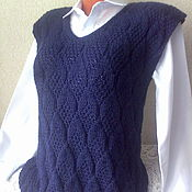 Одежда handmade. Livemaster - original item Knitted tank top