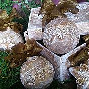 """Подарки к праздникам ручной работы. Ярмарка Мастеров - ручная работа Набор шаров """"Старое золото"""". Handmade."""