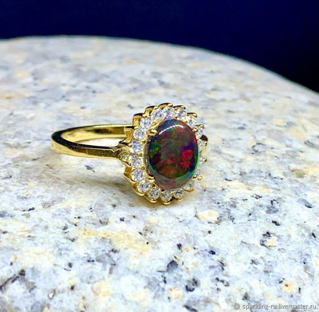 Silver ring with opal, p. .18, Rings, Moscow,  Фото №1