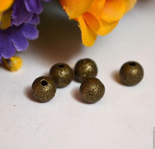 Для украшений ручной работы. Ярмарка Мастеров - ручная работа. Купить Бусина 6 мм под бронзу. Handmade.