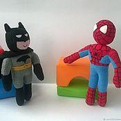 Куклы и игрушки handmade. Livemaster - original item Superheroes spider-man Batman. Handmade.