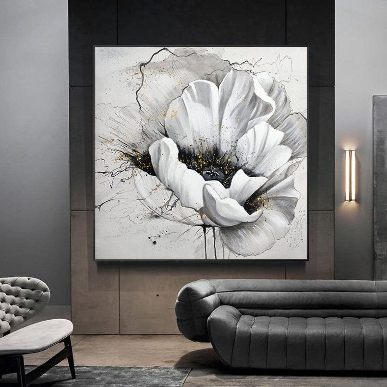 Картина маслом белый цветок Мак картина на холсте Нежная картина в дом, Картины, Санкт-Петербург,  Фото №1
