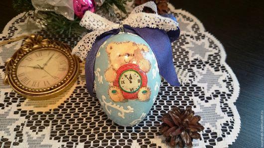 Новый год 2017 ручной работы. Ярмарка Мастеров - ручная работа. Купить Елочное украшение декупаж Новогодний шар Мишкин Новый год. Handmade.