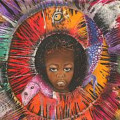 """Картины и панно ручной работы. Ярмарка Мастеров - ручная работа """"Глаза Африки"""" Выставочная работа философского направления. Handmade."""