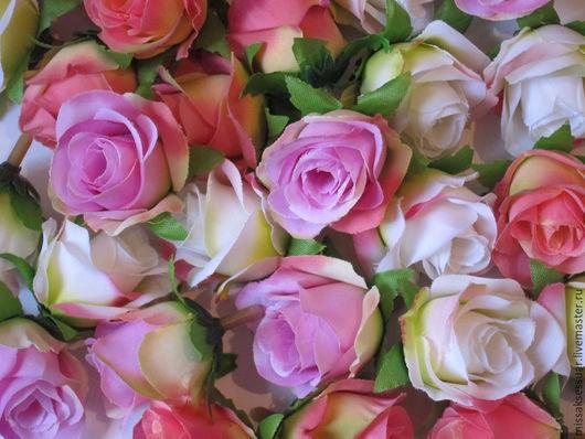 Цветы ручной работы. Ярмарка Мастеров - ручная работа. Купить Розы из ткани 3см. Handmade. Разноцветный, цветы в украшении, розы