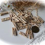 Материалы для творчества ручной работы. Ярмарка Мастеров - ручная работа Прищепки деревянные. Handmade.