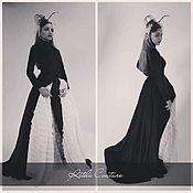 """Одежда ручной работы. Ярмарка Мастеров - ручная работа Пальто бархатное и узкие брюки  """"Black cat"""". Handmade."""