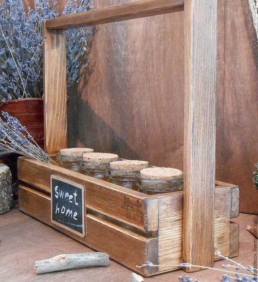 Набор для специй. Сибирский кедр,стекло.Набор для кухни в стиле кантри. `LedaksDecor`-для уютного дома!