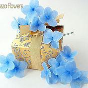 Свадебный салон handmade. Livemaster - original item Blue hydrangea for wedding hairstyles. Flowers from polymer clay.. Handmade.