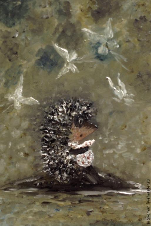 Фантазийные сюжеты ручной работы. Ярмарка Мастеров - ручная работа. Купить Картина в детскую Ёжик в тумане. Handmade. Картина