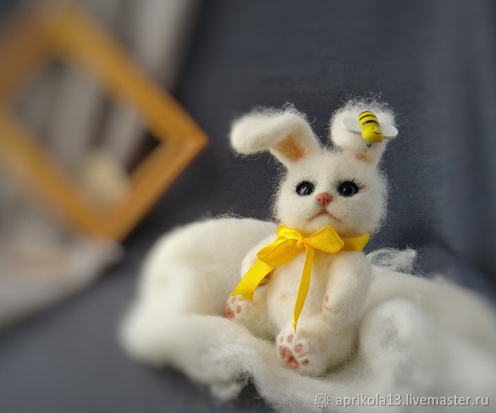 felt toy: Toy felted Hare game toy for children, Felted Toy, Maloyaroslavets,  Фото №1
