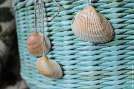 """Корзины, коробы ручной работы. Ярмарка Мастеров - ручная работа. Купить Корзина плетеная """"Море..."""". Handmade. Бирюзовый, подарок"""