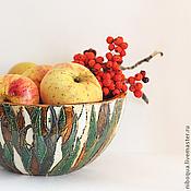 Посуда ручной работы. Ярмарка Мастеров - ручная работа Блюдо керамическое Rainforest. Handmade.
