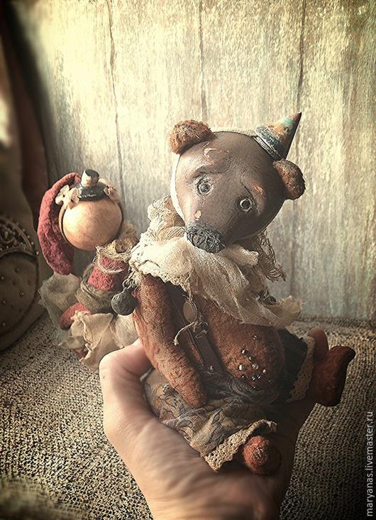"""Мишки Тедди ручной работы. Ярмарка Мастеров - ручная работа. Купить """"Маленький цирк потертых носиков)))"""" зайка и мишка тедди-долл. Handmade."""