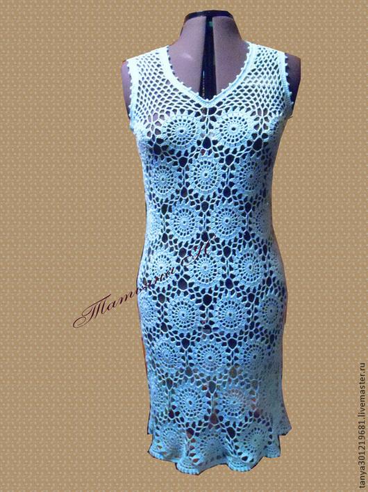 """Платья ручной работы. Ярмарка Мастеров - ручная работа. Купить Платье """" Незабудка """". Handmade. Голубой, ажурное платье"""