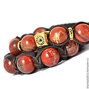 Украшения handmade. Livemaster - original item Set Shamballa bracelets with red Jasper. Handmade.