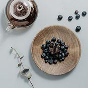 Посуда handmade. Livemaster - original item Wood flat plate (18,5#77. Handmade.