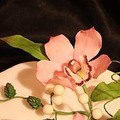 Подарки к праздникам ручной работы. Ярмарка Мастеров - ручная работа Композиция на торт Орхидеи. Handmade.
