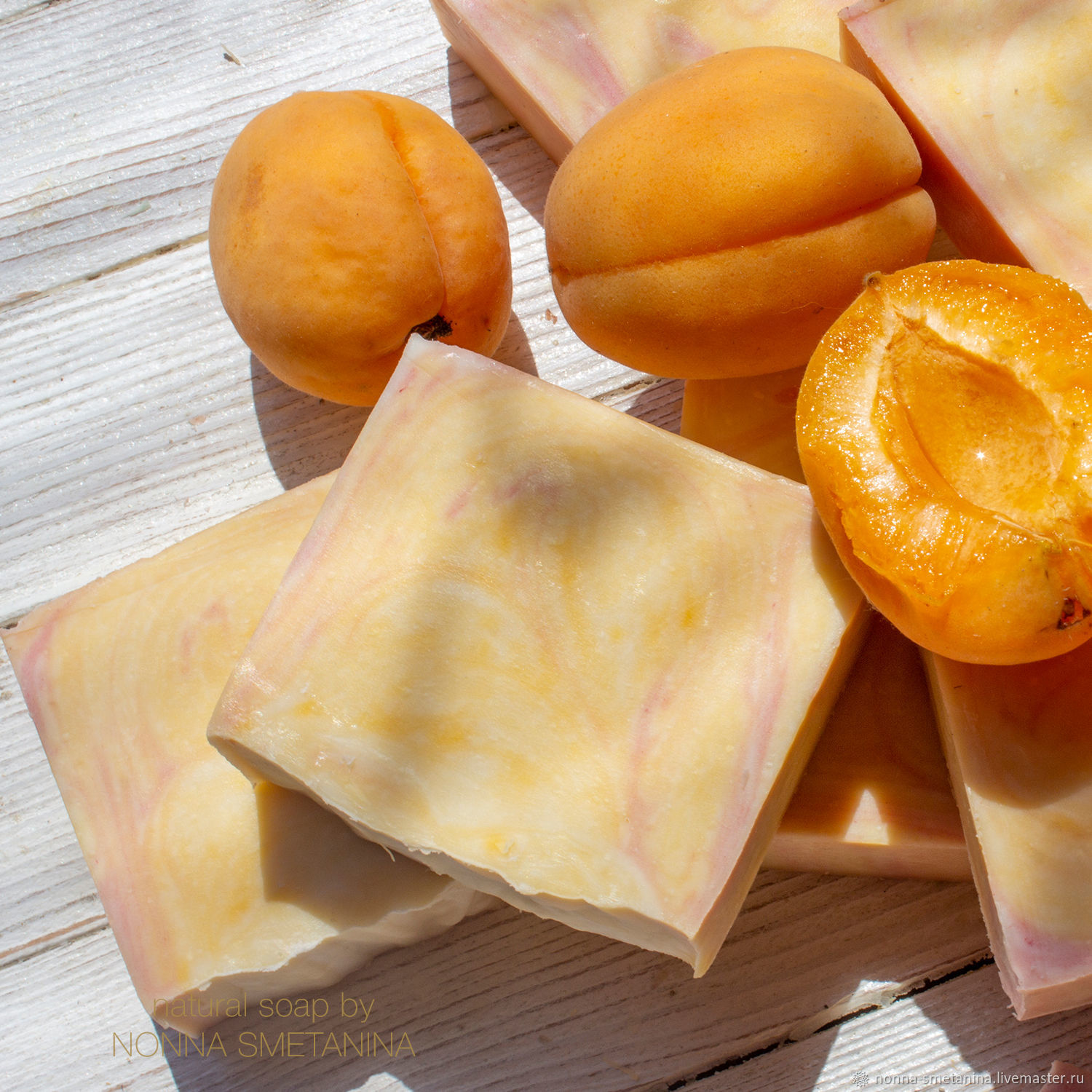 'Apricot river ' soap with almond and sea buckthorn oils, Soap, Moscow,  Фото №1