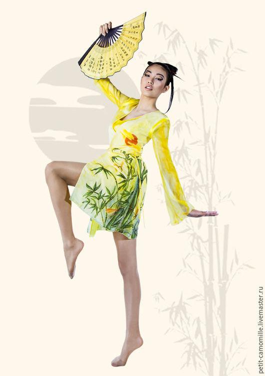 """Платья ручной работы. Ярмарка Мастеров - ручная работа. Купить Платье-двойка """"Танец красных стрекоз"""". Handmade. Комбинированный"""