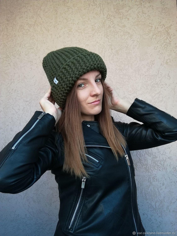 Толстая шапка 4 в 1 Хаки, Шапки, Самара,  Фото №1