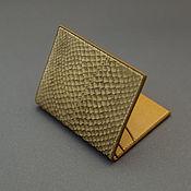 Сумки и аксессуары handmade. Livemaster - original item Compact wallet / cardholders of genuine leather fish. Handmade.
