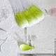 Лепестки бело-зеленые закругленные My Thai материалы для флористики из Таиланда