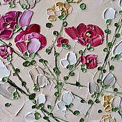 Картины и панно handmade. Livemaster - original item Roses painting miniature pink buy painting in the living room. Handmade.