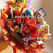 Цветы и флористика ручной работы. Ярмарка Мастеров - ручная работа Букет на день учителя! Букет из конфет в школу, букет директору. Handmade.