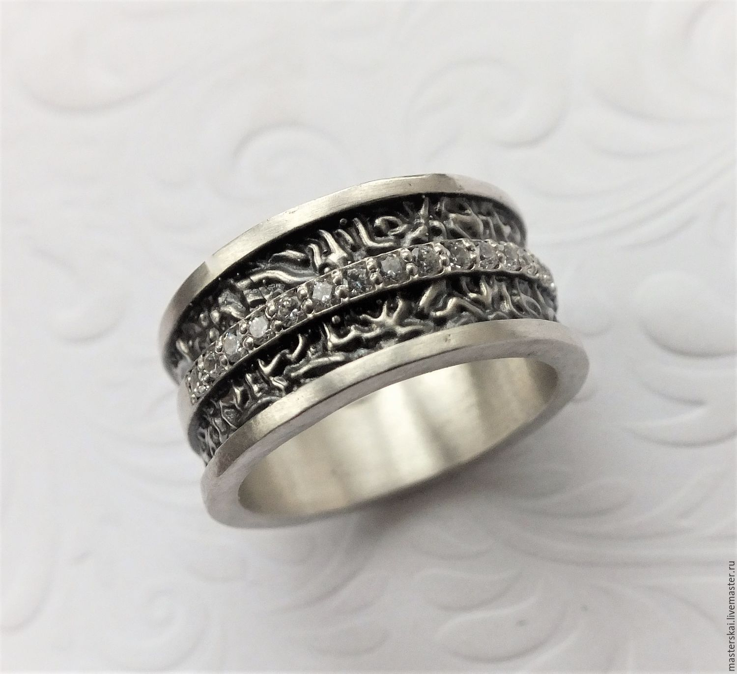 Ring 'Eugene' - silver, cubic Zirconia, Rings, Moscow,  Фото №1