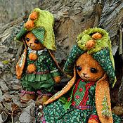 """Куклы и игрушки ручной работы. Ярмарка Мастеров - ручная работа Плюшевые зайцы """"Мандариновые гномы"""". Handmade."""