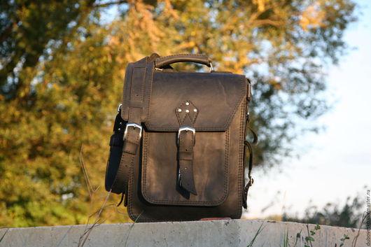 Мужские сумки ручной работы. Ярмарка Мастеров - ручная работа. Купить Мужской кожаный портфель,натуральная кожа,сумка. Handmade.