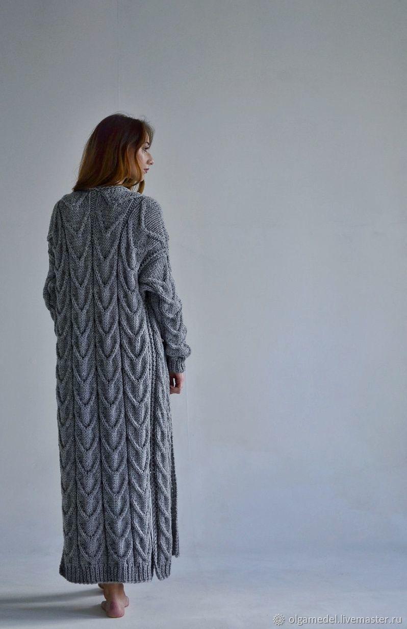 cardigans: Women's knitted cardigan oversize in gray, Cardigans, Yoshkar-Ola,  Фото №1