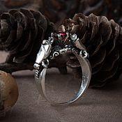 Украшения handmade. Livemaster - original item Ring of Bats. The Vampire Ring. gothic ring. bronze silver.. Handmade.