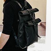 Рюкзаки ручной работы. Ярмарка Мастеров - ручная работа Рюкзак-скрутка чёрный. Handmade.
