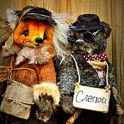 Куклы и игрушки ручной работы. Ярмарка Мастеров - ручная работа Кот Базилио и Лиса Алиса. Handmade.