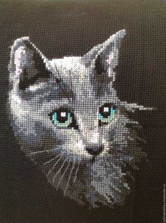 Животные ручной работы. Ярмарка Мастеров - ручная работа. Купить Красавица Кошка. Handmade. Темно-серый, любимая кошка