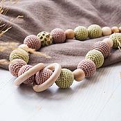 Одежда handmade. Livemaster - original item Slingobusy juniper, ribbed, Beige with green. Handmade.
