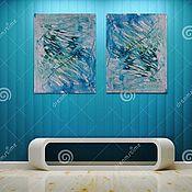 """Картины и панно ручной работы. Ярмарка Мастеров - ручная работа Картина """"Прорыв"""", авторская абстракция. картина. картина в офис. Handmade."""