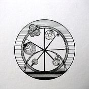 """Картины и панно ручной работы. Ярмарка Мастеров - ручная работа Графика тушью """"Время жизни"""". Handmade."""