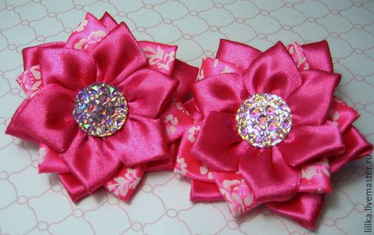 Детская бижутерия ручной работы. Ярмарка Мастеров - ручная работа. Купить Розовое ассорти бантики бледно розовый яркий розовый микки. Handmade.