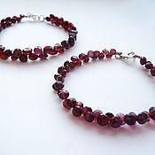 Украшения handmade. Livemaster - original item Bracelet of garnet gemstones almandine. Handmade.