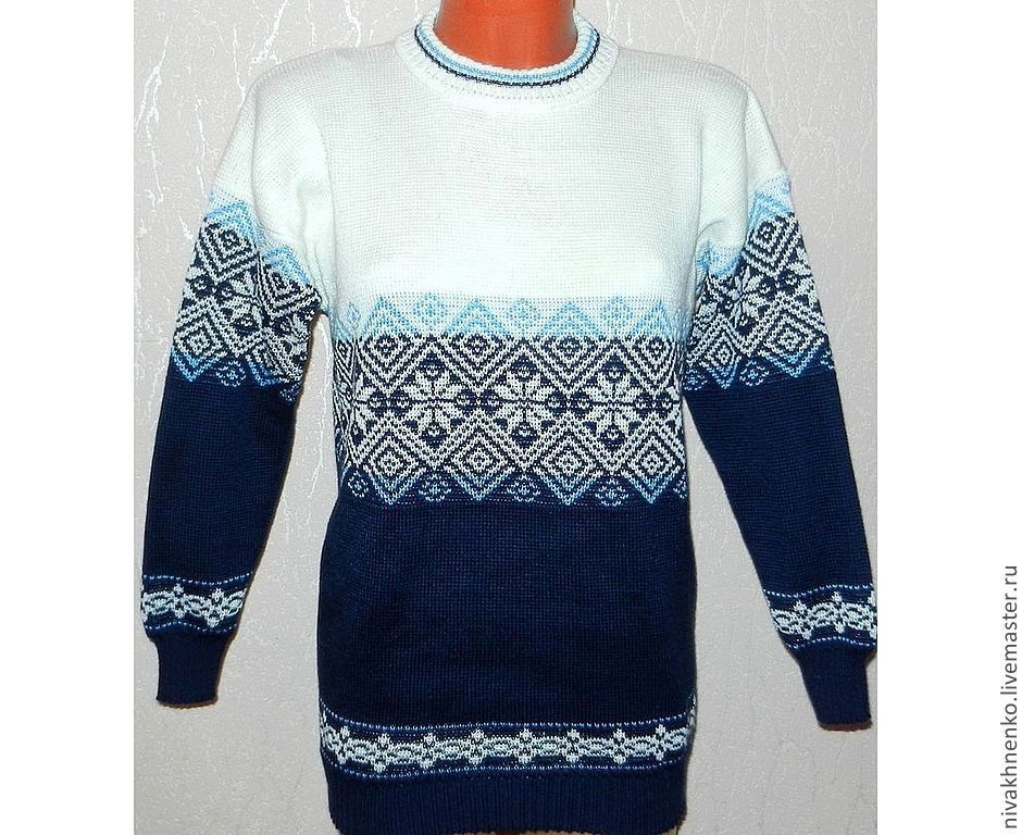 Men's sweater with a Norwegian ornament, Sweaters, Moscow,  Фото №1