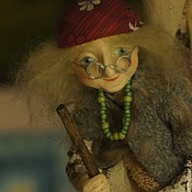 Куклы и игрушки ручной работы. Ярмарка Мастеров - ручная работа Бабка Ежка Авторская кукла. Handmade.