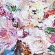 Картина маслом  `Сolored splashes ` 50/70 см Цветные всполохи фрагмент