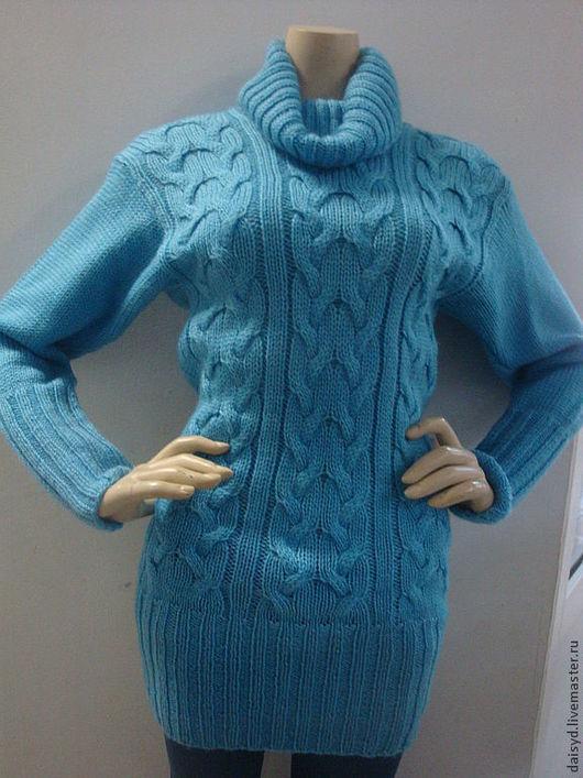 Кофты и свитера ручной работы. Ярмарка Мастеров - ручная работа. Купить Свитер женский, голубой. Handmade. Голубой, свитер спицами