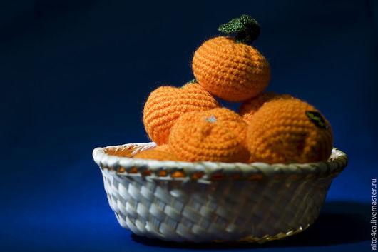 Еда ручной работы. Ярмарка Мастеров - ручная работа. Купить Мандарины вязаные. Handmade. Оранжевый, мандарины крючком, Новый Год