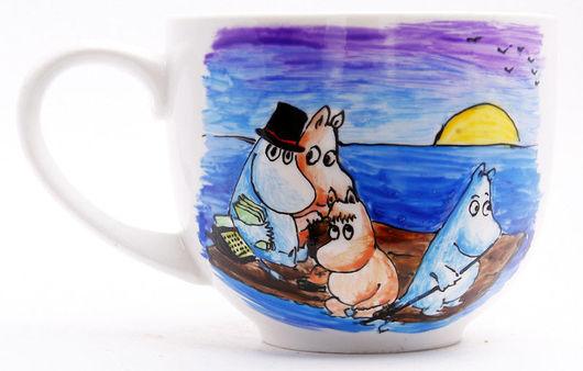 Кружки и чашки ручной работы. Ярмарка Мастеров - ручная работа. Купить Муми-чашки. Handmade. Туве Янссон, запекамые краски