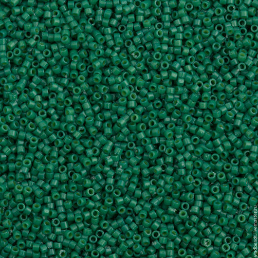 Для украшений ручной работы. Ярмарка Мастеров - ручная работа. Купить Бисер delica 2127 Duracoat Opaque Dyed Spruce. Handmade.
