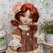 Куклы и игрушки handmade. Livemaster - original item Doll Eliza textile interior with an oversized face. Handmade.